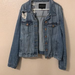Distressed jean jacket!!
